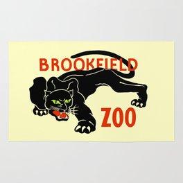Black panther Brookfield Zoo ad Rug