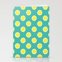 lemon Stationery Cards featuring lemon by Panic Junkie