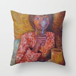 There is no Spoon Throw Pillow