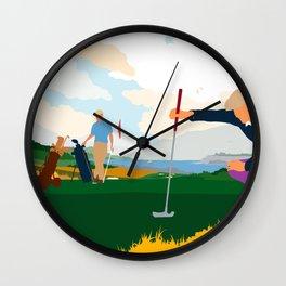 Golf In Ireland Wall Clock
