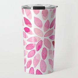 Watercolor brush strokes - pink Travel Mug