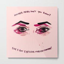 Eyes Like Marilyn Metal Print