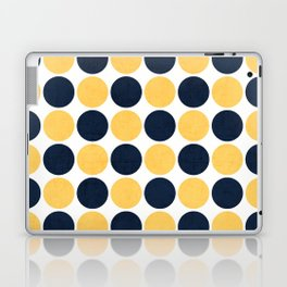 navy and yellow dots Laptop & iPad Skin
