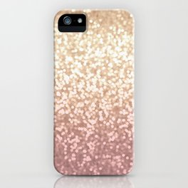 Champagne Gold Blush Pink Glittery Ombre Pattern #society6 iPhone Case