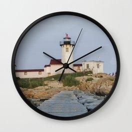 Eastern Point Lighthouse Aug2017 Wall Clock