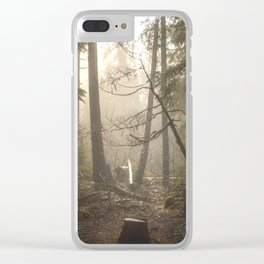 Sunrise Forest Adventure Clear iPhone Case