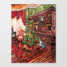 Bibliophile's Christmas Canvas Print