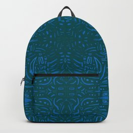 Azules abstractos Backpack
