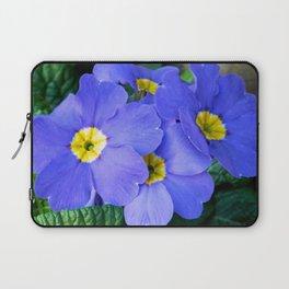 Blue Heartsease Flower Laptop Sleeve