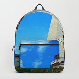 North Cape Lighthouse window wall Backpack