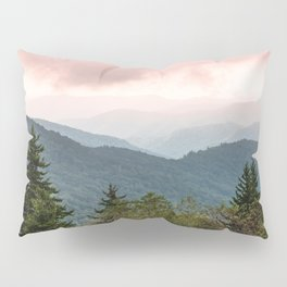 Great Smoky Mountain National Park Sunset Layers III - Nature Photography Pillow Sham
