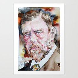 BRAM STOKER - watercolor portrait Art Print