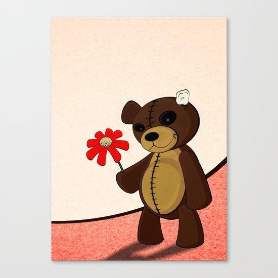 Sweet Teddy Canvas Print