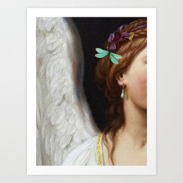 Angel With A Pearl Earring Art Print