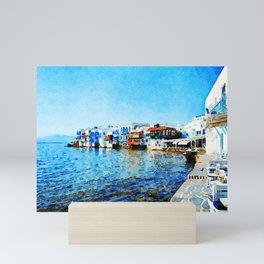 Little Venice at Mykonos Mini Art Print