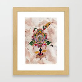Persian Lotus floral Iluustration Framed Art Print