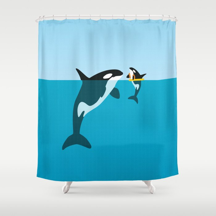 Orca Shower Curtain By Wyattdesign