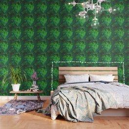 Jungle Green on a Rainy Day Wallpaper