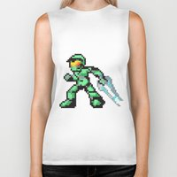 master chief Biker Tanks featuring master chief by Walter Melon