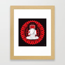 Manipulated Buddha Framed Art Print
