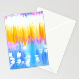 abstract pastels Stationery Cards