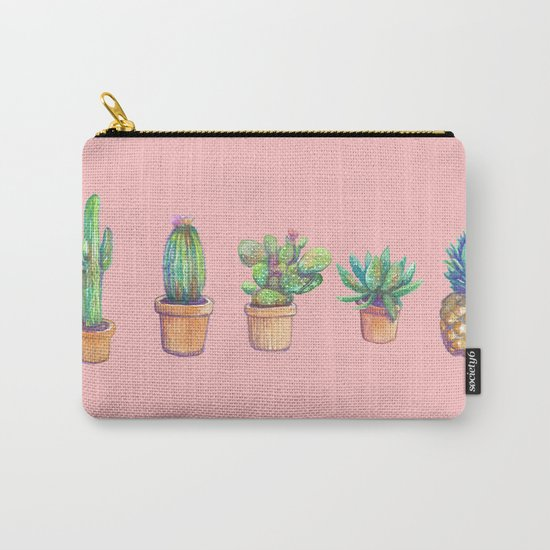 evolution cactus to pineapple pink version Carry-All Pouch
