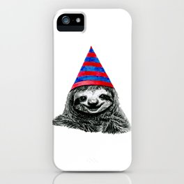 Party Sloth iPhone Case