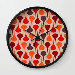 Retro colored drops 2 Wall Clock