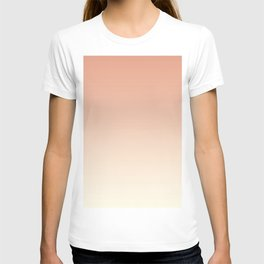 Pratt & Lambert's Color of the Year 2019 Earthen Trail Pink 4-26 and Dover White 33-6 Ombre Gradient T-shirt
