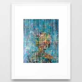 grid portrait Framed Art Print