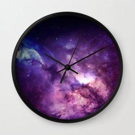 Purple space Wall Clock