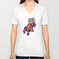 harley V-neck T-shirts featuring Harley by Sophie Jewel