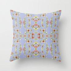 Pattern AM03 Blue Throw Pillow