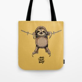 Hang in There Baby Sloth Tote Bag