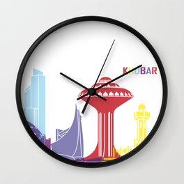 Khobar skyline pop Wall Clock