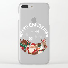 Merry Christmas design Funny Gift for Xmas Lovers Clear iPhone Case
