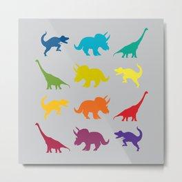 Dino Parade 2 Metal Print