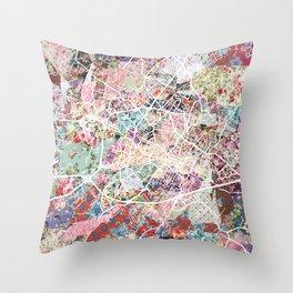 Charlottesville map Virginia Throw Pillow