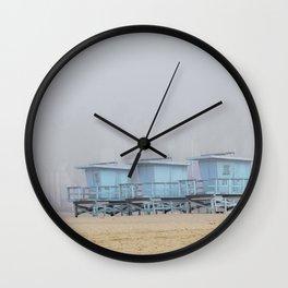 Three Lifeguard Stands Venice Beach California Travel Wall Clock