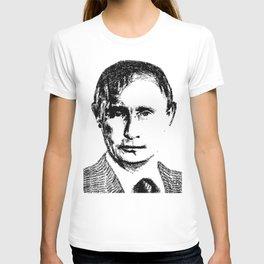 Vladimir Putin - SILENCE (rubber stamp portrait) T-shirt