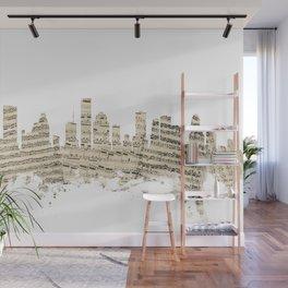 Houston Texas Skyline Sheet Music Cityscape Wall Mural