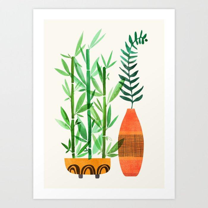 Bamboo + Fern / Botanical Illustration Art Print