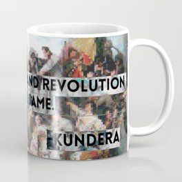 Youth, Poetry, Revolution: Kundera Quote Coffee Mug