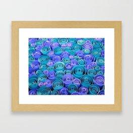 Sea of Blue Swirls Framed Art Print