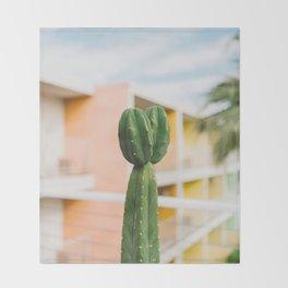 Palm Springs Cactus II Throw Blanket