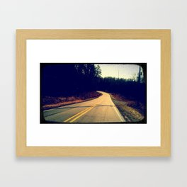 Come. Take a Drive with Me. Just You and I. Please. This Road's So Lonely Without You.  Framed Art Print