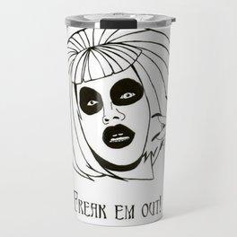 """Sharon Needles - """"FREAK EM OUT!"""" Travel Mug"""