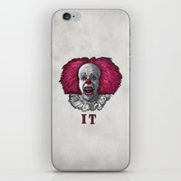 pennywise iPhone & iPod Skins featuring Pennywise by zinakorotkova