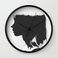 silhouette Wall Clocks featuring Silhouette   by Jane Lacey Smith