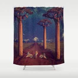 Tiger Galactica  Shower Curtain